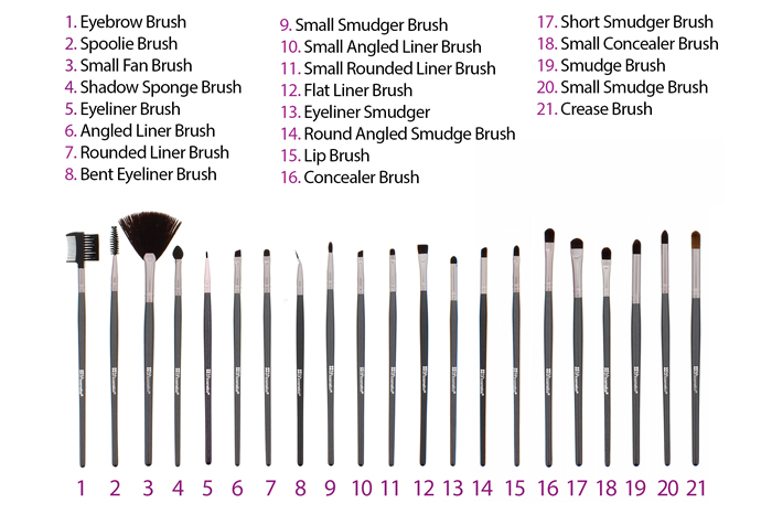 bh cosmetics 36 pcs brush set