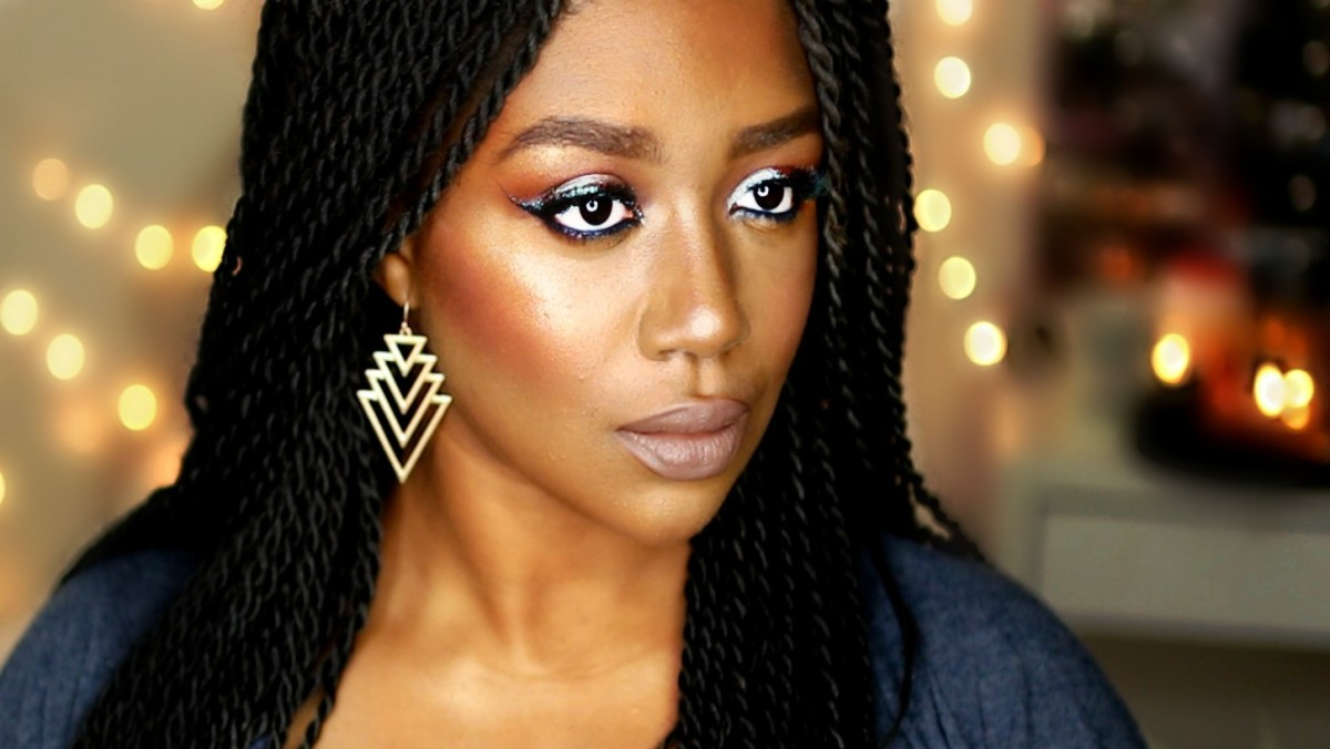 COOL TONED MAKEUP FOR DARK SKIN